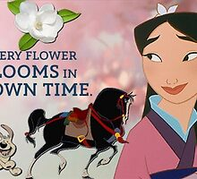 Mulan Every Flower Blooms In Its Own Time Mug by Angelinas