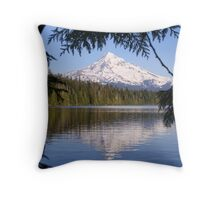 Mt Hood Reflecting in Lost Lake Throw Pillow
