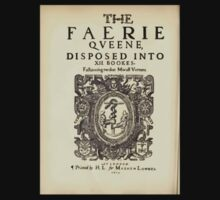 Spenser's Faerie queene A poem in six books with the fragment Mutabilitie Ed by Thomas J Wise, pictured by Walter Crane 1895 V1 74 - Title Plate Small by wetdryvac