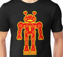Yellow and Red Robot Unisex T-Shirt