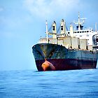 tanker ship at anchor by paulted