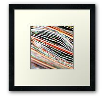 mapping the abstract Framed Print