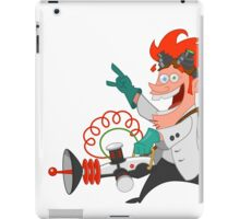 crazy scientist iPad Case/Skin
