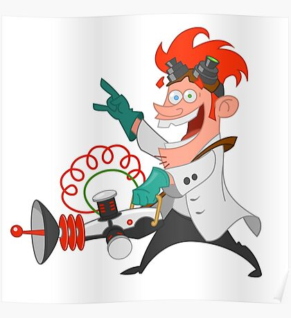 crazy scientist Poster