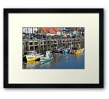 Scarborough boats Framed Print
