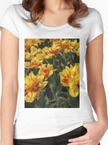 tulips flowers Women's Fitted Scoop T-Shirt
