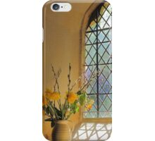 Norman Glass Window, All Saint's Church, Somerset iPhone Case/Skin