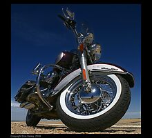 """""""Harley-Davidson Heritage Softail Classic"""" by Don Bailey"""