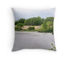 Countryside Landscape in Wisconsin Throw Pillow