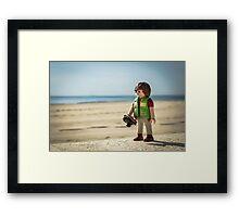 playmobil photographer Framed Print