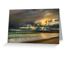 Evening Storm Passing By Greeting Card