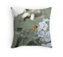 insect life and lavender Throw Pillow