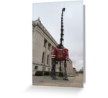 Chicago Blackhawks Dinosaur Greeting Card