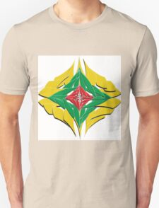 Colorfull Flower Art in a different look Unisex T-Shirt