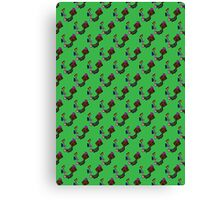 The Punk In the Metal Valley Pattern Canvas Print