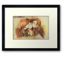 These Kissy Things Framed Print