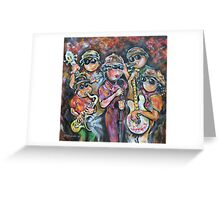 The Gilroy Calfornia  All Star Traveling Submarine Jazz Band  Greeting Card