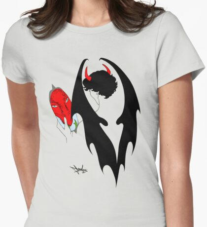 Smauglock Holmes: Reflections of a Consulting Dragon Womens Fitted T-Shirt