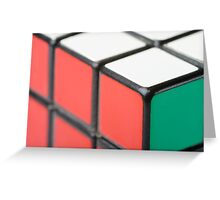 Closeup of Rubik's Cube Greeting Card