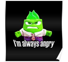 Inside Out - Anger as the Hulk Poster