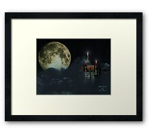 Moon Castle Framed Print