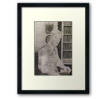 Benedict Cumberbatch Library Framed Print