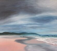 Morning at Seven Mile Beach by artselaine