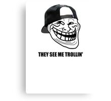 They see me trollin' Canvas Print