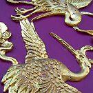 Golden Cranes by theblackazar