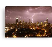 Chicago stormy night Canvas Print