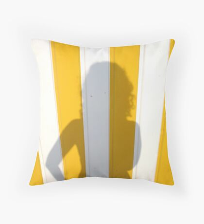 Bored on the French Riviera Throw Pillow