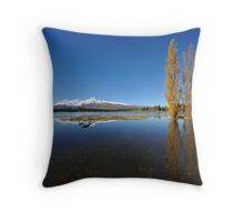 landscape of lake Tekapo in south New Zealand Throw Pillow