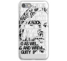 Kurt Cobain typographic tribute iPhone Case/Skin