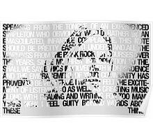 Kurt Cobain typographic tribute Poster