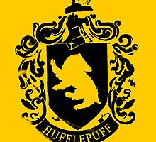 Spray Painted Hufflepuff by Merrickz