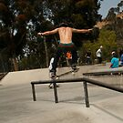 Crooked Rail Grind by Robert Gerard