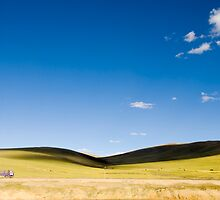 Scenic view in Tibet  under the clear sky by sf2301420max