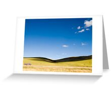 Scenic view in Tibet  under the clear sky Greeting Card