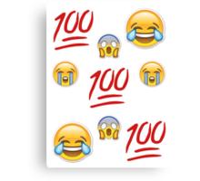 Variety Emoji Fade Canvas Print