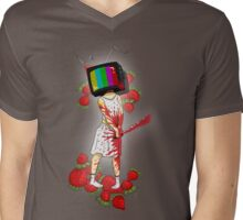 Strawberry Woman Mens V-Neck T-Shirt