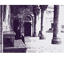 old city sitting Photographic Print