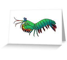 Friendly Mantis Shrimp  Greeting Card
