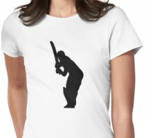 Cricket Sport Bat Ball Womens Fitted T-Shirt