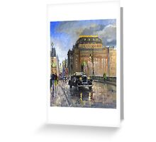Prague National Theatre Old Car Greeting Card