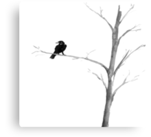 Raven in a Tree Canvas Print
