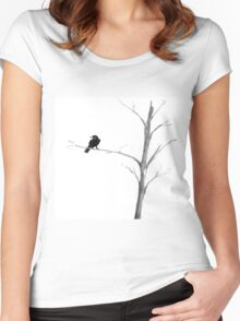 Raven in a Tree Women's Fitted Scoop T-Shirt