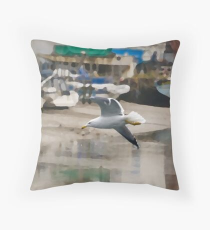 Herring Gull Throw Pillow