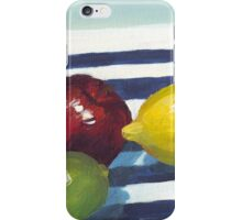 Still Life with Apple, Lemon and Lime iPhone Case/Skin