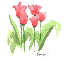 Washington Square Park Tulips by Jazmine Richardson