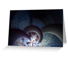 Industrial I - Abstract Fractal Artwork Greeting Card